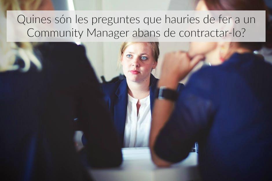 6 preguntes community manager