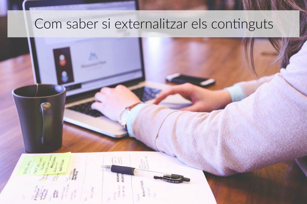 externalitzar els continguts