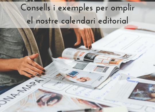 Consells calendari editorial