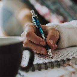 escriure, llibreta, boli