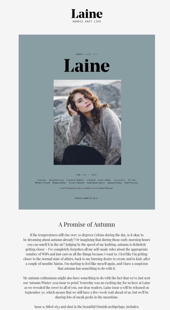 newsletter Laine