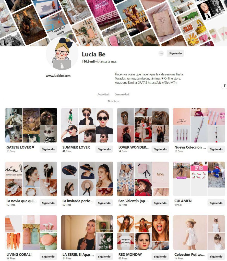 Pinterest Lucia Be