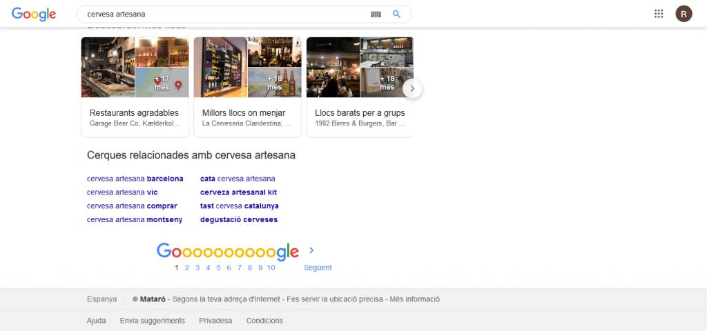 trobar informacio paraules clau similars amb google